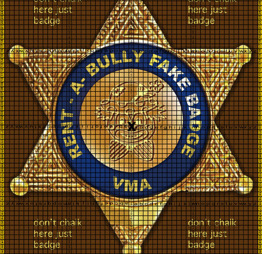 Rent a Bully Fake Badge – VMA